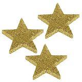 Deko-Accessoires Ø 60 mm, 9 mm gold Glitter Stars, Papstar (81813), 96 Stück