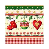 Servietten, 3-lagig 1/4-Falz 25 cm x 25 cm Traditional Christmas, Papstar (81869), 600 Stück