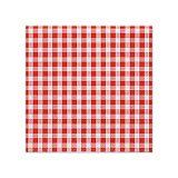 Servietten, 3-lagig 1/4-Falz 25 cm x 25 cm rot Vichy Karo, Papstar (81966), 280 Stück