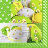 Papstar Servietten, 3-lagig 1/4-Falz 40 cm x 40 cm Easter Harmony, 82101, 400 Stück