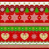 Servietten, 3-lagig 1/4-Falz 33 cm x 33 cm Christmas Border, Papstar (82443), 300 Stück