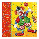 Servietten, 3-lagig 1/4-Falz 33 cm x 33 cm Clown, Papstar (82448)