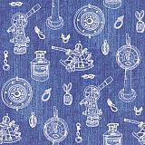 Servietten ROYAL Collection 1/4-Falz 33 cm x 33 cm Nautica, Papstar (82644), 160 Stück