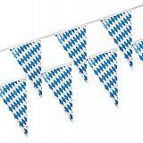 Wimpelkette, Folie 10 m Bayrisch Blau wetterfest, Papstar (82688)