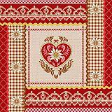 Papstar Servietten, 3-lagig 1/4-Falz 33 cm x 33 cm Rustic Memories, 82715, 200 Stück