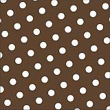 Servietten, 3-lagig 1/4-Falz 33 cm x 33 cm braun Dots, Papstar (82747), 360 Stück