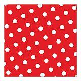 Servietten, 3-lagig 1/4-Falz 33 cm x 33 cm rot Dots, Papstar (82756), 360 Stück