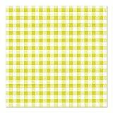 Servietten, 3-lagig 1/4-Falz 33 cm x 33 cm limonengrün Vichy Karo, Papstar (82765), 360 Stück