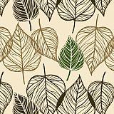 Servietten, 3-lagig 1/4-Falz 33 cm x 33 cm Dancing Leaves, Papstar (82782), 360 Stück