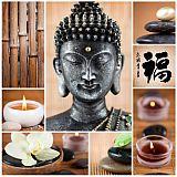 Servietten, 3-lagig Design Edition 1/4-Falz 33 cm x 33 cm Buddha, Papstar (82786), 180 Stück