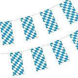 Flaggenkette, Papier 10 m Bayrisch Blau schwer entflammbar, Papstar (82807)