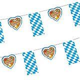 Papstar Flaggenkette, Papier 4 m Gruß vom Oktoberfest schwer entflammbar, 82815, 10 Stück