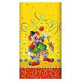 Tischdecke, Papier 120 cm x 180 cm Clown lackiert, Papstar (84177)
