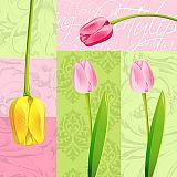 Servietten, 3-lagig 1/4-Falz 33 cm x 33 cm Bella Tulipa, Papstar (84271), 600 Stück