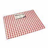 Tischsets, Papier 30 cm x 40 cm rot Vichy Karo, Papstar (84346)