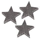 Deko-Accessoires Ø 60 mm, 9 mm silber Glitter Stars, Papstar (84457), 96 Stück