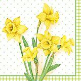 Servietten, 3-lagig 1/4-Falz 33 cm x 33 cm Spring Blossoms, Papstar (84480), 1000 Stück