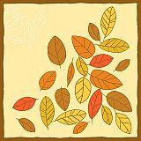 Servietten, 3-lagig 1/4-Falz 40 cm x 40 cm Autumnal, Papstar (84490), 400 Stück