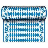 Tischläufer, stoffähnlich, Airlaid 24 m x 40 cm Bayrisch Blau, Papstar (84495)