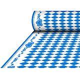 Tischdecke, stoffähnlich, Airlaid 25 m x 1,18 m Bayrisch Blau, Papstar (84501), 4 Stück