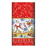 Tischdecke, stoffähnlich, Airlaid 120 cm x 180 cm Christmas Fun, Papstar (84574), 5 Stück