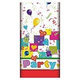 Tischdecke, Papier 120 cm x 180 cm Party Mix lackiert, Papstar (84703), 15 Stück