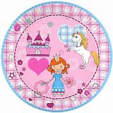 Teller, Pappe rund Ø 23 cm Princess Dream, Papstar (84708)