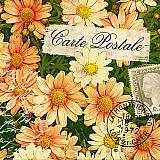 Servietten, 3-lagig 1/4-Falz 33 cm x 33 cm Carte Postale, Papstar (84751), 200 Stück