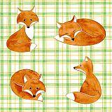 Servietten, 3-lagig 1/4-Falz 33 cm x 33 cm Foxes, Papstar (84760), 200 Stück