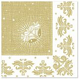 Servietten ROYAL Collection 1/4-Falz 40 cm x 40 cm gold Christmas, Papstar (85028)
