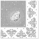 Servietten ROYAL Collection 1/4-Falz 40 cm x 40 cm silber Christmas, Papstar (85029)