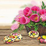 Servietten, 3-lagig 1/4-Falz 33 cm x 33 cm Easter Mood, Papstar (85331), 300 Stück