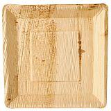 Teller, Palmblatt pure eckig 25 cm x 25 cm x 2,5 cm, Papstar (85500)
