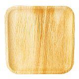 Teller, Palmblatt pure eckig 25,5 cm x 25,5 cm x 1,5 cm, Papstar (85514)