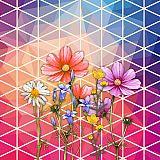 Servietten, 3-lagig 1/4-Falz 33 cm x 33 cm Crazy Flowers, Papstar (85603), 200 Stück