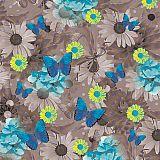 Servietten, 3-lagig 1/4-Falz 33 cm x 33 cm Blue Butterflies, Papstar (85625), 200 Stück