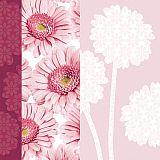 Servietten, 3-lagig Design Edition 1/4-Falz 33 cm x 33 cm Flower Silhouette, Papstar (85634), 180 Stück