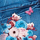 Servietten, 3-lagig Design Edition 1/4-Falz 33 cm x 33 cm Blue Jeans, Papstar (85635), 180 Stück