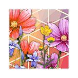 Servietten, 3-lagig 1/4-Falz 25 cm x 25 cm Crazy Flowers, Papstar (85643), 280 Stück