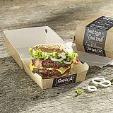 Burgerboxen, Pappe pure 7 cm x 9 cm x 9 cm Good Food klein, Papstar (85824), 500 Stück