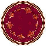 Teller, Pappe rund Ø 23 cm rot Sparkling Stars, Papstar (85899), 200 Stück
