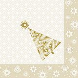 Servietten, 3-lagig 1/4-Falz 40 cm x 40 cm creme Starry Sky, Papstar (85902), 300 Stück