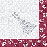 Servietten, 3-lagig 1/4-Falz 40 cm x 40 cm bordeaux Starry Sky, Papstar (85904), 300 Stück