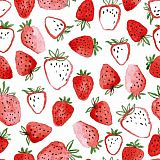 Servietten, 3-lagig 1/4-Falz 33 cm x 33 cm Strawberry phantasie, Papstar (85995), 200 Stück