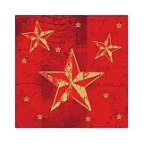 Servietten, 3-lagig 1/4-Falz 25 cm x 25 cm rot Star Shine, Papstar (86040), 600 Stück