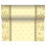 Tischläufer, stoffähnlich, Airlaid 24 m x 40 cm creme Star Shine, Papstar (86043)