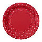 Teller, Pappe rund Ø 23 cm Snowflakes & Gifts, Papstar (86104), 200 Stück