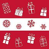 Servietten, 3-lagig 1/4-Falz 40 cm x 40 cm Snowflakes & Gifts, Papstar (86108), 300 Stück