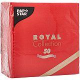 Servietten ROYAL Collection 1/4-Falz 25 cm x 25 cm rot, Papstar (86238), 300 Stück