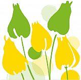 Servietten, 3-lagig 1/4-Falz 40 cm x 40 cm White Tulips, Papstar (86325), 200 Stück